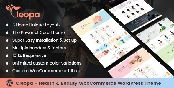 Cleopa - Health & Beauty WooCommerce WordPress Theme - Health & Beauty Retail