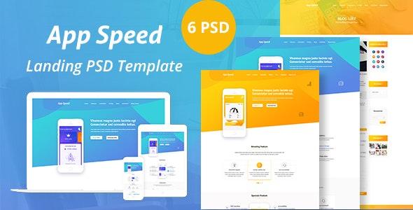 App Speed PSD Templated - Software Technology