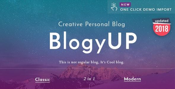 BlogyUP - Creative Personal WordPress Blog Theme - Personal Blog / Magazine