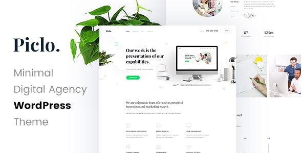 Piclo - Digital Agency WordPress Theme - Portfolio Creative