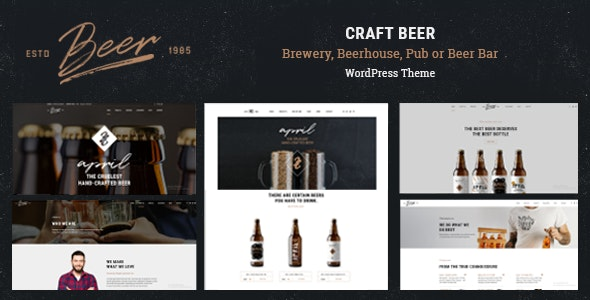 Craft Beer - Brewery & Pub WordPress Theme - Restaurants & Cafes Entertainment