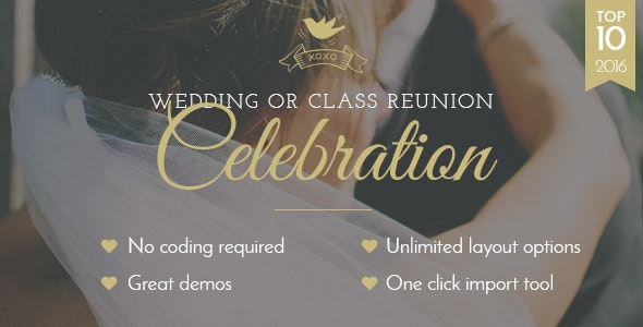 Celebration - Wedding & Class Reunion - Wedding WordPress