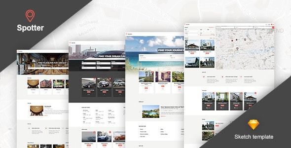 Spotter - Universal Directory Sketch Template - Business Corporate