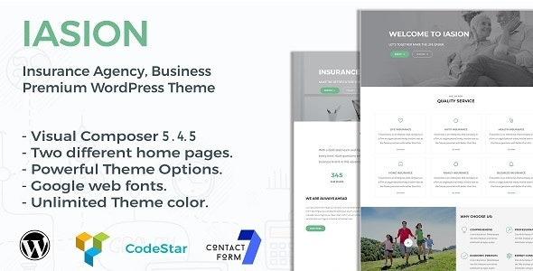 Iasion | Insurance Agency WordPress Theme - Business Corporate