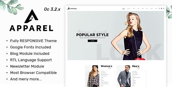 Apparel - Multipurpose Responsive Fashion Opencart 3.x Theme - Fashion OpenCart