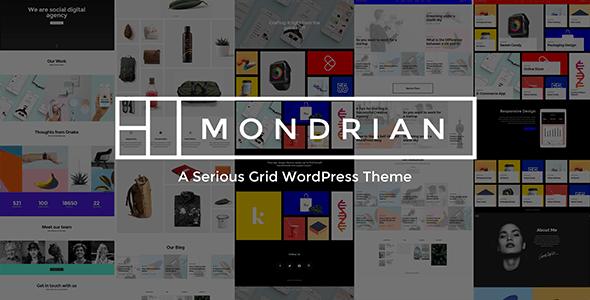 Mondrian - A Serious Grid WordPress Theme - Portfolio Creative