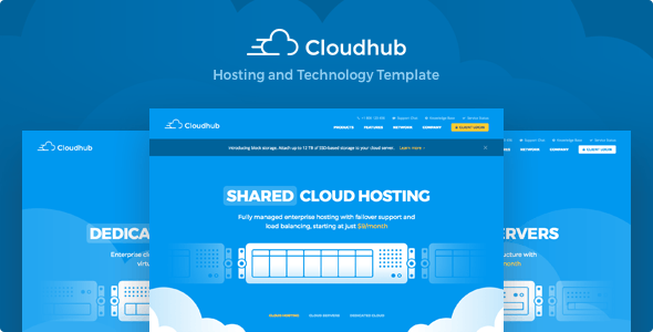 Cloudhub - Hosting and Technology HTML Template