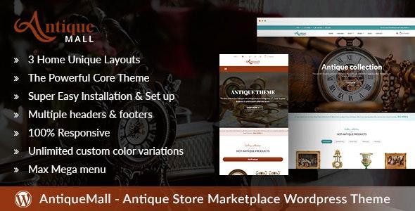 AntiqueMall - Antique Store Marketplace WordPress Theme - Retail WordPress