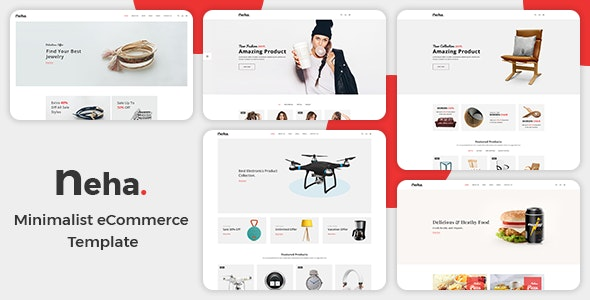 Neha – Minimal eCommerce HTML Template + RTL - Shopping Retail