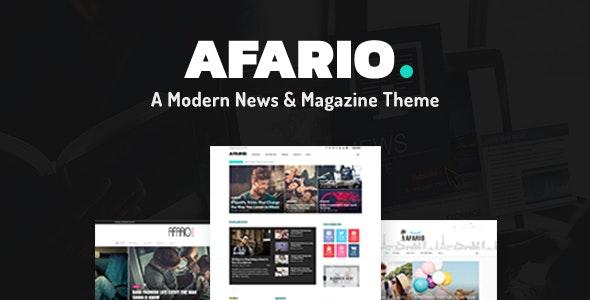 Afario – A Modern News & Magazine Theme - News / Editorial Blog / Magazine