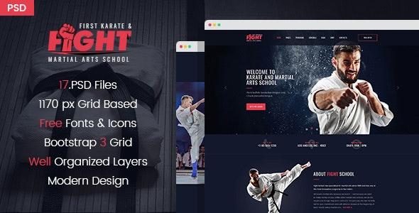 Fight - Karate & Martial Arts School PSD Template - Health & Beauty Retail