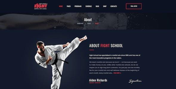 Fight - Karate & Martial Arts School PSD Template