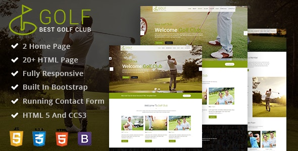 GolfClub - Sports Course HTML Template - Retail Site Templates