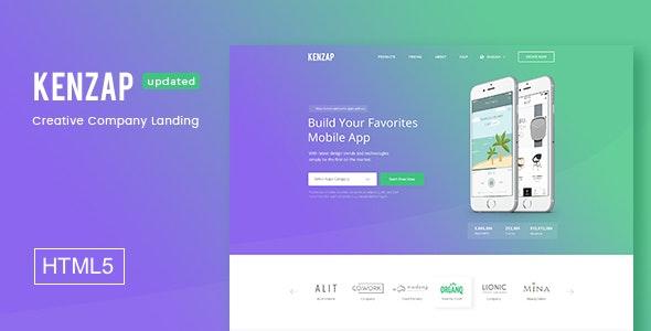 Kenzap - Creative Company Landing HTML5 Template - Business Corporate