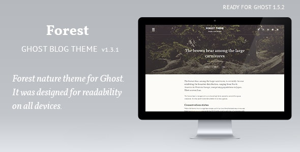 Forest - woody theme - Ghost Themes Blogging