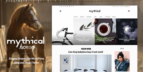 Mythical Horse - Elegant Responsive WordPress Blog and Shop Theme - Blog / Magazine WordPress