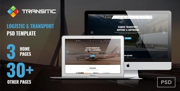 Transitic | Logistic & Transport PSD Template - Business Corporate