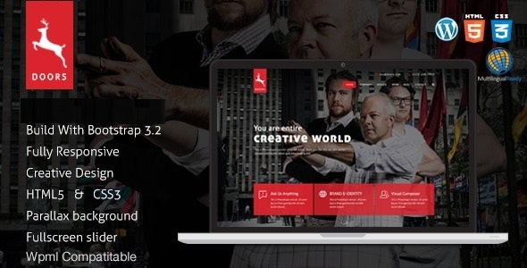 Doors - Parallax Responsive One Page Joomla Template - Business Corporate