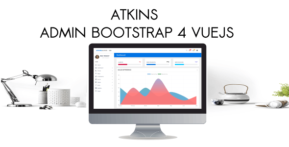 Atkins - Admin Bootstrap 4 VueJS2 - Admin Templates Site Templates