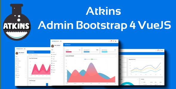 Atkins - Admin Bootstrap 4 VueJS2