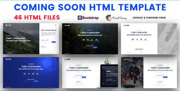 Coming Soon HTML Template - Under Construction Specialty Pages