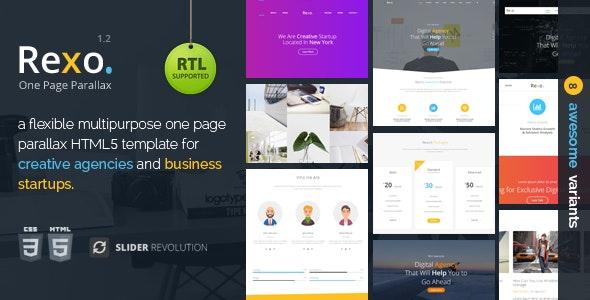 Rexo - One Page Parallax - Creative Site Templates