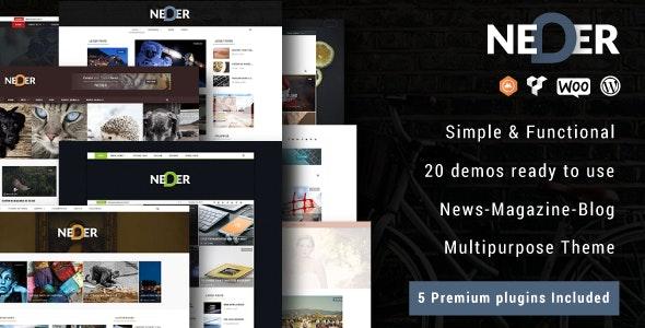 Neder - WordPress News Magazine and Blog Theme - News / Editorial Blog / Magazine