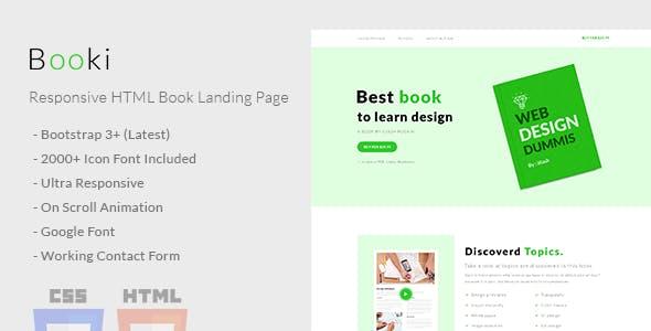 Booki - Responsive HTML Book Landing Page