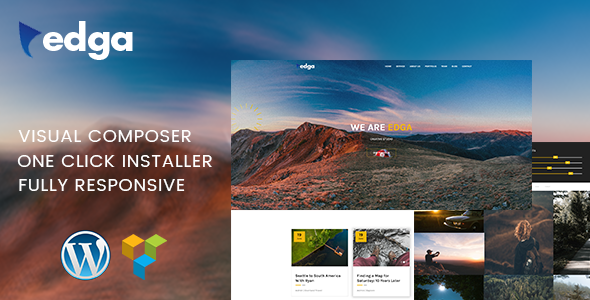Edga - One Page Creative WordPress Theme - Portfolio Creative