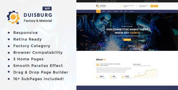 Duisburg - Factory & Industrial Business WordPress Theme