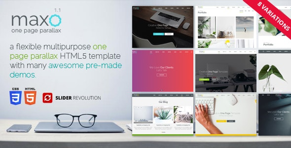 Maxo - One Page Parallax - Creative Site Templates
