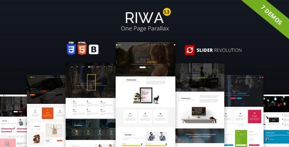 Riwa - One Page Parallax - Creative Site Templates