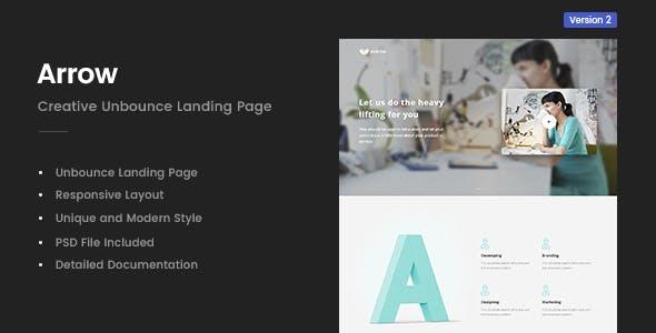 Arrow   Creative Unbounce Landing Page