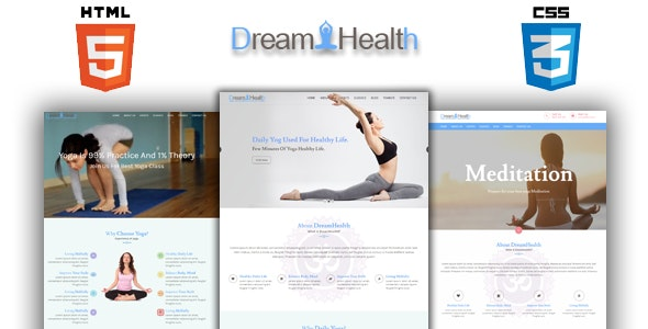 Dreamhealth - Yoga, Spa and Fiteness HTML Template - Health & Beauty Retail
