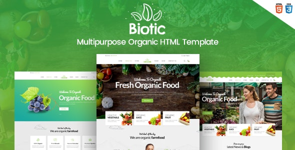 Biotic - Organic Food / Products HTML Template - Food Retail