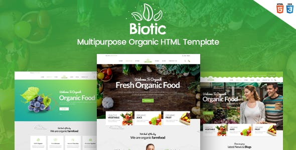 Biotic - Organic Food / Products HTML Template