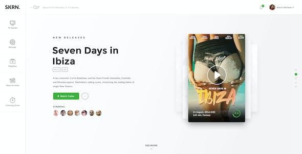 SKRN - Media Streaming App