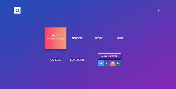 O three - creative design agency PSD template