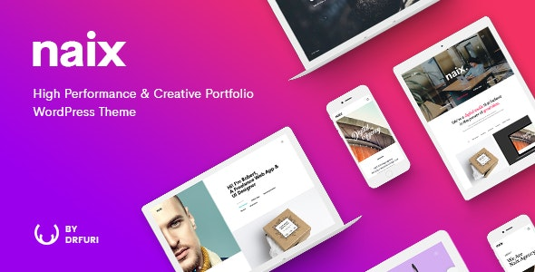 Naix - Creative & High Performance Portfolio WordPress Theme - Portfolio Creative