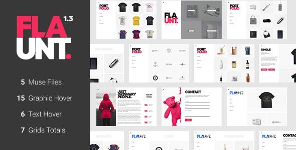Grid Portfolio Adobe Muse Themes & Muse Templates