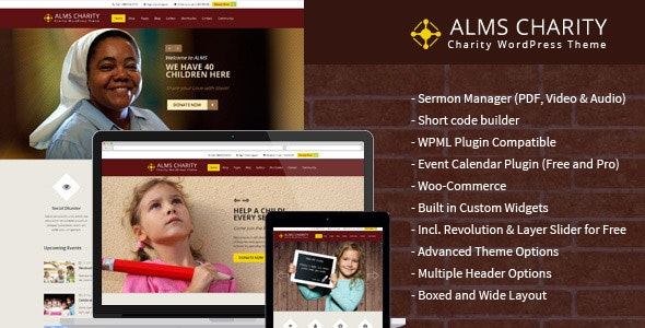 Alms Charity- Charity & Ministry Theme - Churches Nonprofit