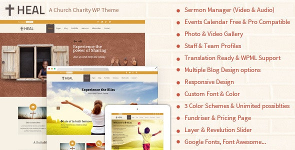 Heal - Charity WordPress - Churches Nonprofit
