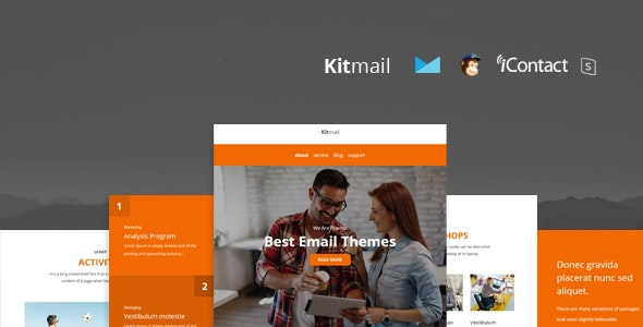 Kit Mail - Responsive E-mail Template + Online Access - Email Templates Marketing