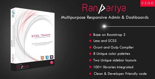 Ranpariya - Multipurpose Responsive Admin Dashboard Template - Admin Templates Site Templates