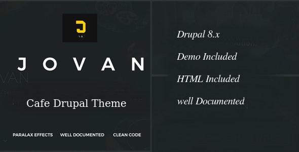 Jovan | Cafe & Restaurant Drupal 8 Theme - Food Retail