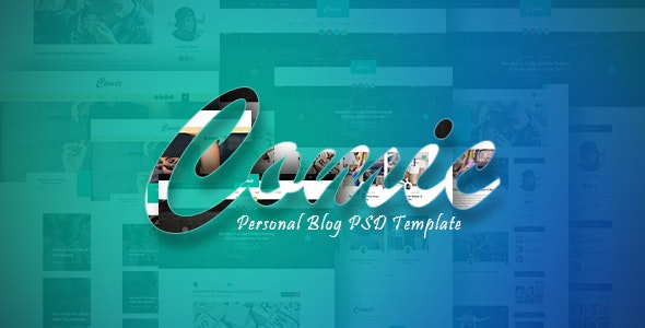 Comic - Personal Blog PSD Template - Personal Photoshop