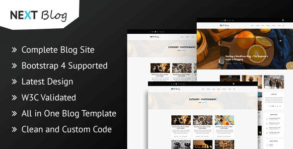 Next Blog - Blogging HTML Template - Retail Site Templates
