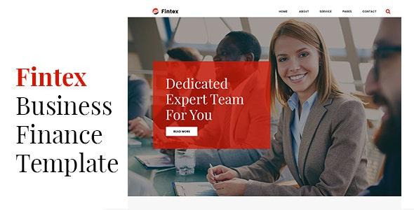 Fintex - Business & Finance Template - Business Corporate