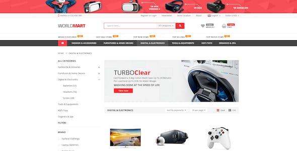 Worldmart - Electronics & Multipurpose WooCommerce WordPress Theme ( RTL supported )