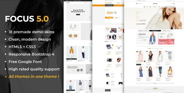 Focus - Advanced Multipurpose Responsive Prestashop 1.6 & 1.7 Theme - Shopping PrestaShop